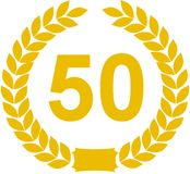 Laurel Wreath 50 Years Royalty Free Stock Photography