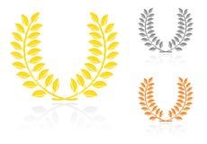 Laurel wreath. In metal. Vector-Illustration royalty free illustration