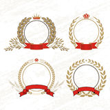 Laurel wreath. Illustration whith crown and ribbon vector illustration