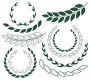 Laurel Wreath abstrato esboço Silhueta ilustração royalty free