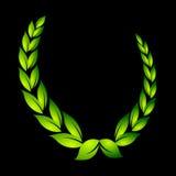 Laurel wreath on black. Award royalty free illustration