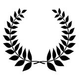 Laurel wreath black silhouette Stock Photo