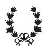 Laurel wreath with a bow Stock Photos