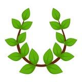 Laurel wreath branch with leaves isolated ancient Greek headdress. Greek symbol laurel wreath branch with leaves isolated ancient Greek headdress vector caesar stock illustration