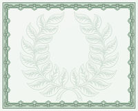 Laurel Wreath Certificate Background Royalty Free Stock Image