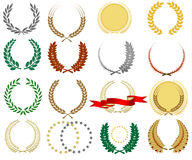 Laurel wreath collection Stock Image
