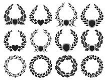 Laurel wreath collection Stock Photography