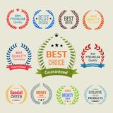 Laurel wreath color set Stock Photography