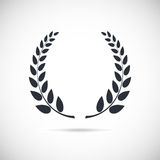 Laurel wreath. Conceptual logo. Detailed vector illustration on background Royalty Free Stock Photo