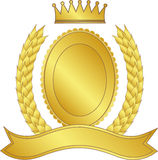Laurel wreath and crown Stock Photos