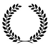 Laurel wreath with detailed branches, vector Royalty Free Stock Image