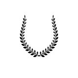 Laurel Wreath floral ancient emblem created in horseshoe shape. Royalty Free Stock Photo