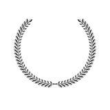 Laurel Wreath floral ancient emblem. Heraldic vector design elem Royalty Free Stock Photography
