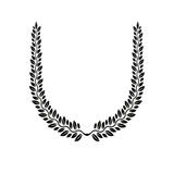 Laurel Wreath floral emblem. Heraldic Coat of Arms decorative lo Royalty Free Stock Photography