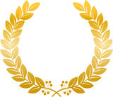 Laurel wreath gold Royalty Free Stock Photography