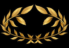 Laurel wreath gold () Stock Photos