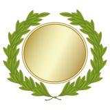 Laurel Wreath With Gold medalj stock illustrationer