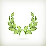 Laurel wreath, green award Stock Image