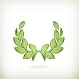Laurel wreath, green award Stock Image
