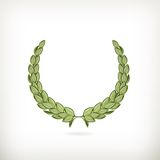 Laurel wreath, green award Stock Photos