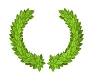 Laurel wreath. With green leaves. EPS10 stock illustration