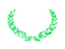 Laurel Wreath Green Stars Imagenes de archivo