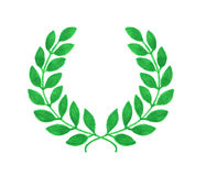 Laurel wreath. Hand-drawn laureate wreath on the Royalty Free Stock Image