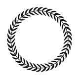 Laurel wreath. Hand drawn vector round frame for invitations, greeting cards, quotes, logos, posters and more. Vector stock illustration