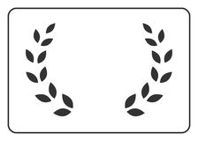 Laurel wreath icon border 16. A laurel wreath icon border. Symbol of victory and achievement. Vintage design element for medal, award, coat of arms. Logo Stock Photos