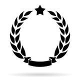 Laurel wreath icon Stock Photography