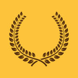 The laurel wreath icon. Prize and reward, honors symbol. Flat Royalty Free Stock Photography
