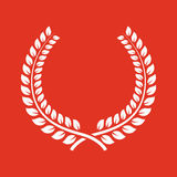 The laurel wreath icon. Prize and reward, honors symbol. Flat Royalty Free Stock Photos