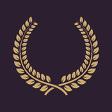 The laurel wreath icon. Prize and reward, honors symbol. Flat Royalty Free Stock Images