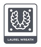 laurel wreath icon in trendy design style. laurel wreath icon isolated on white background. laurel wreath vector icon simple and vector illustration
