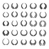 Laurel wreath icons set, simple style Royalty Free Stock Image