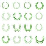 Laurel wreath icons set royalty free illustration