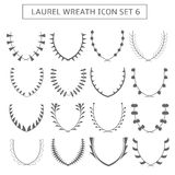 Laurel wreath icons Royalty Free Stock Images