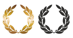 Laurel wreath. An illustration of two simplified laurel wreaths Royalty Free Stock Images