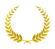 Laurel Wreath. Isolated on white background. 3D render stock illustration