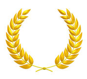 Laurel Wreath. Isolated on white background. 3D render vector illustration