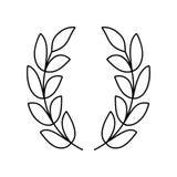 Laurel wreath line icon Stock Images