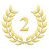 Laurel wreath 2nd anniversary on a white background stock illustration