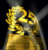Laurel wreath with number 25 Royalty Free Stock Photo