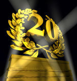 Laurel wreath with number 20 Royalty Free Stock Photography