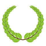 Laurel wreath. Organic vector illustration royalty free illustration