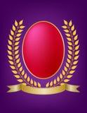 Laurel Wreath Oval Crest Stock Image