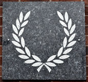 Laurel wreath. Painted on a marble tile Stock Images