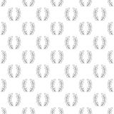 Laurel wreath pattern seamless Stock Photography