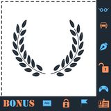 Laurel wreath icon flat stock illustration
