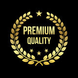 Or Laurel Wreath Récompense de la meilleure qualité de qualité insigne d'or Élément de conception à vendre, vendant le thème au d Image stock